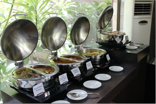 Selection of traditional Indian dishes for lunch